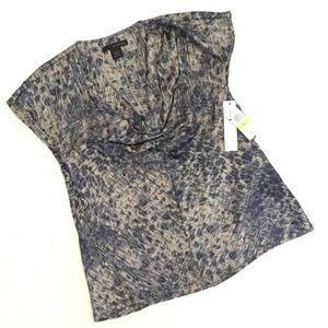 NWT Calvin Klein Jeans Drape Cowl Neck Blouse Top
